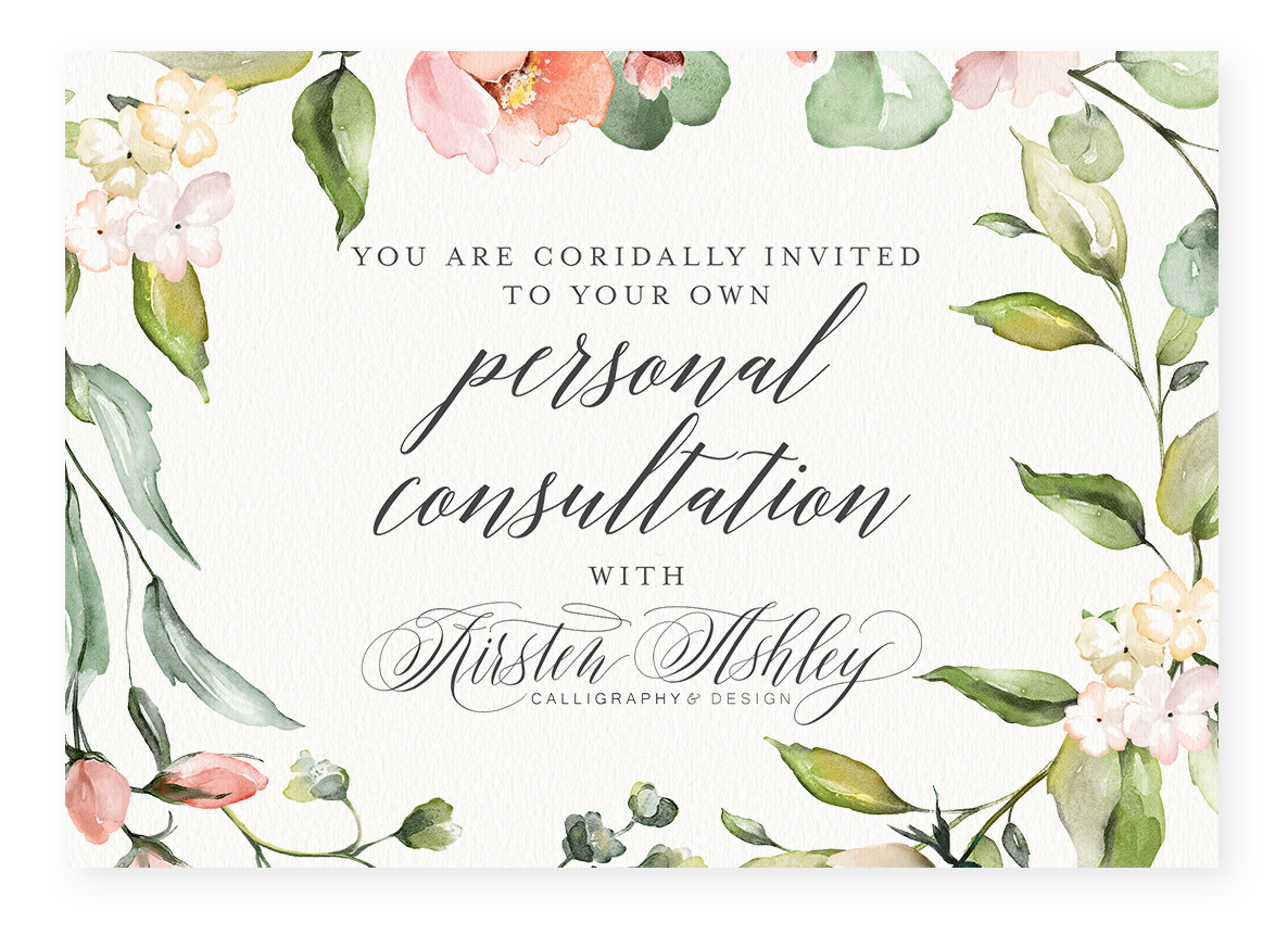 kirsten ashley calligraphy & design invitation