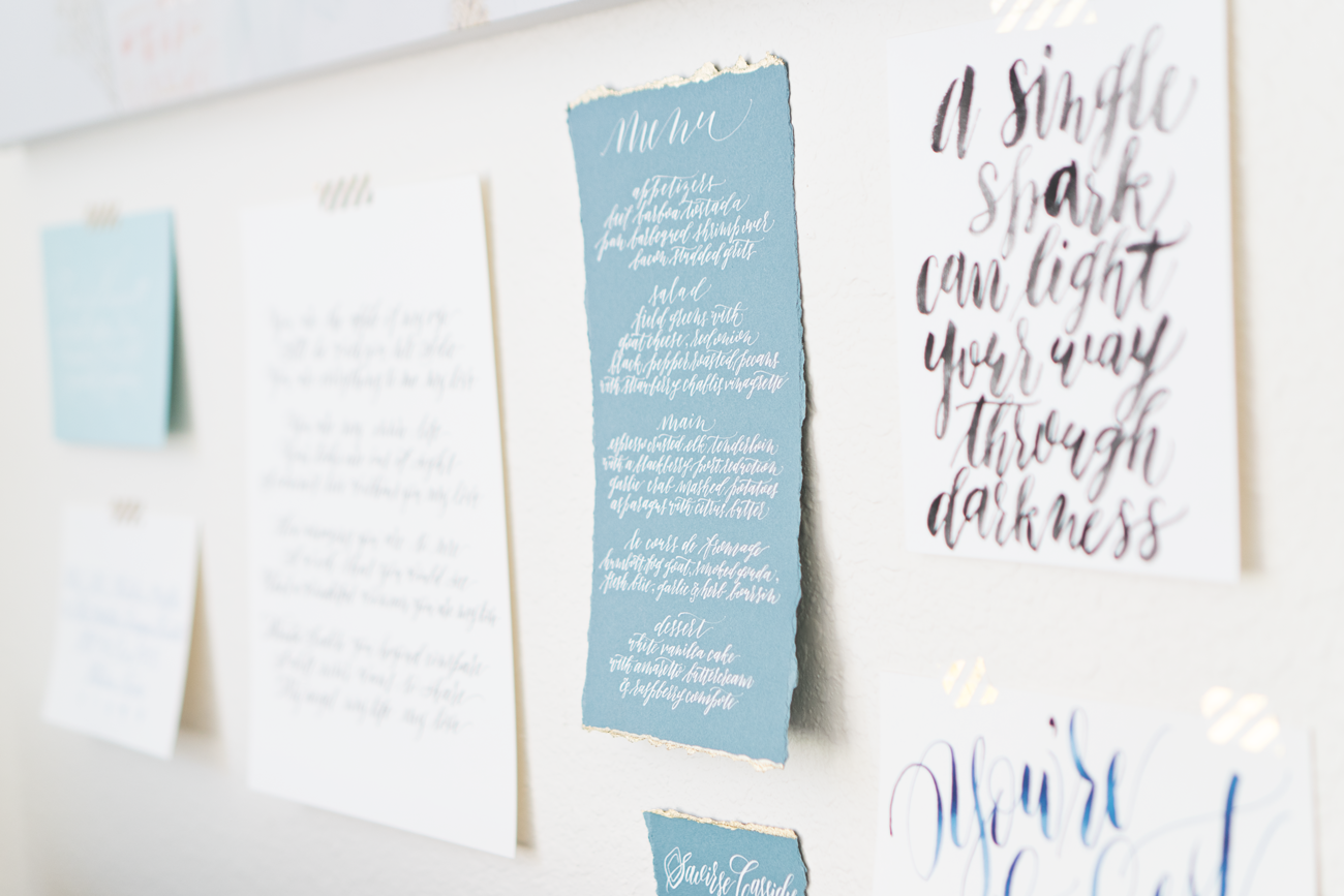 kirsten ashley calligraphy design studio tour wallart